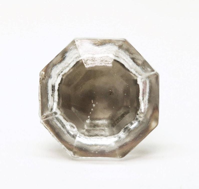Original Vintage Faceted Glass Drawer Knob