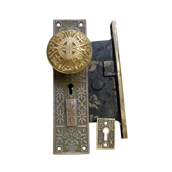 Aesthetic Lockwood Entry Knob Lock Set Etsy