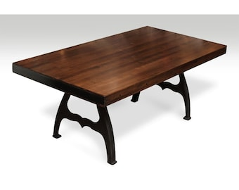 Bowling alley coffee table with provincial stain