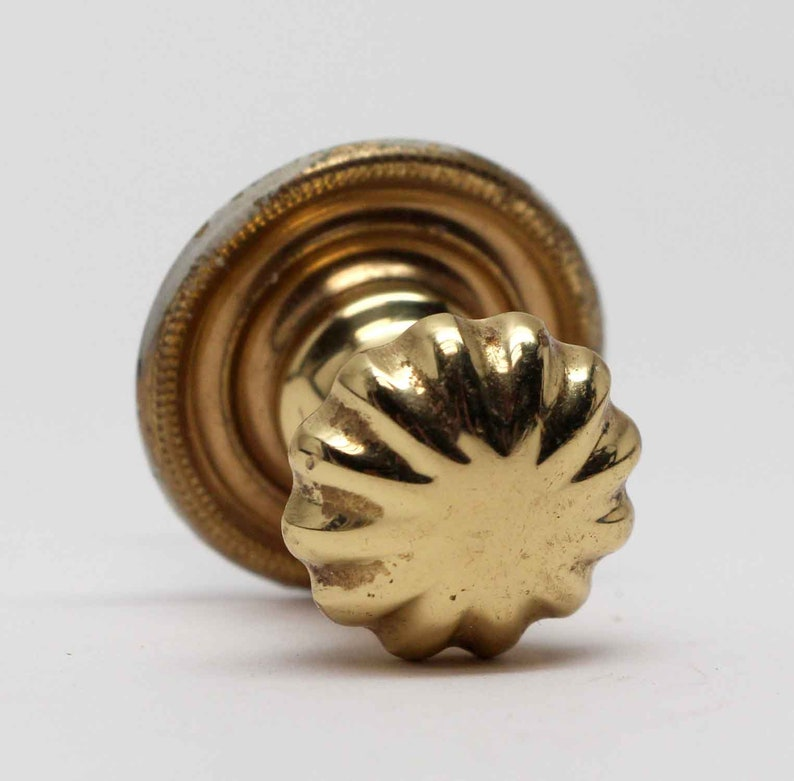 Fluted Cast Brass Drawer Knob from The Waldorf Astoria
