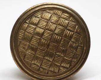 Antique Brass Weave Door Knob