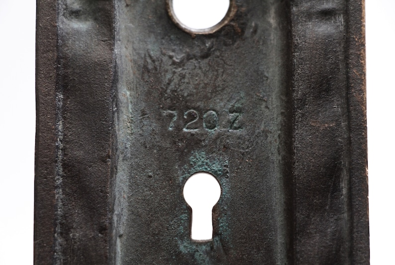 Italian Renaissance Back Plate with Two Keyholes