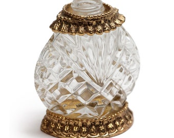 Glass Perfume Bottle with Gold Detail