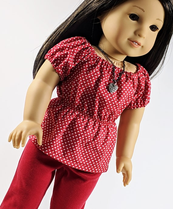 "Doll Clothes T-Shirt Pants Trousers Set for 18/"" AG American Doll My Life Dolls"