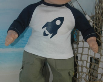 American, made, girl, boy, , Bitty Baby, doll, graphic tee, shirt, FREE pajama pants 18 inch doll