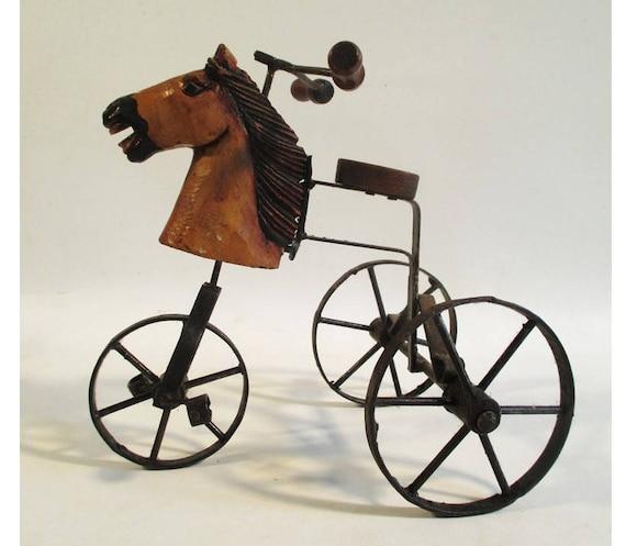 Pferd Kopf Dreirad Vintage Spielzeug Reproduktion | Etsy