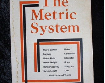 Metric System Posters, Vintage 1974 Classroom Science Math Visual Display, Instructor Curriculum Materials, Nerd Gift