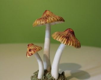 Large Boo Shroom Ghost Mushroom Figurine  Sculpture  Hand Painted MADE-TO-ORDER Fly Agaric