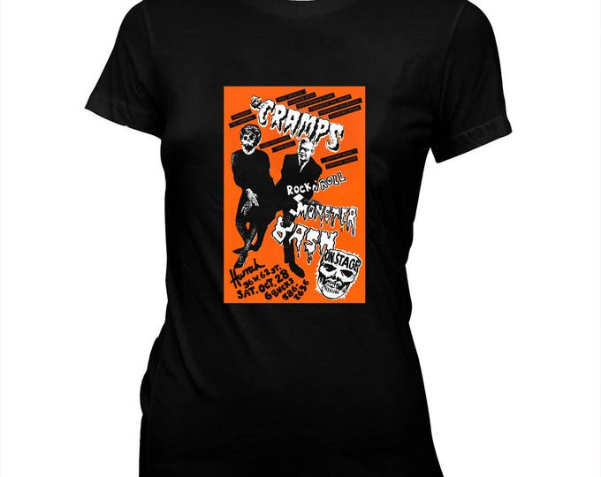The Cramps - Halloween Monster Bash Flyer - Psychobilly - Women's Hand screened, Pre-shrunk 100% Cotton t-shirt