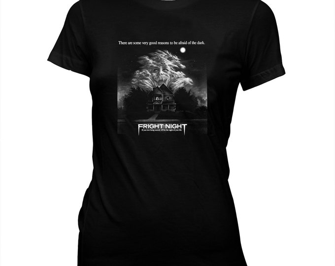 Fright NIght - Roddy McDowall - Women's hand screened, Pre-shrunk 100% cotton t-shirt