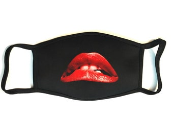 Rocky Horror Picture Show Lips - Secure Fit, Hand Sewn, Reusable Multi-layered Cotton Face Mask