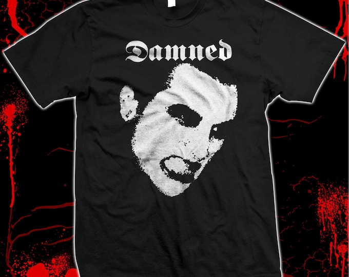 The Damned - Pre-shrunk, hand screened 100% cotton t-shirt Punk Rock