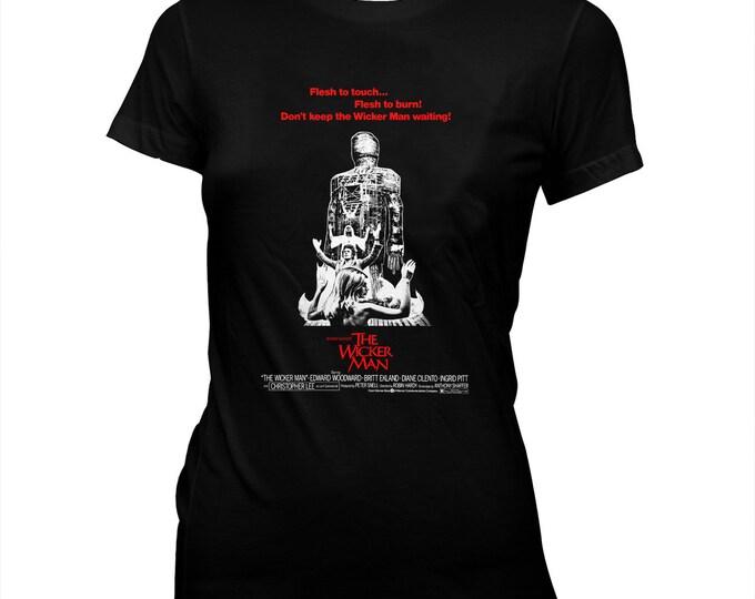 The Wicker Man - Christopher Lee - Women's hand screened, Pre-shrunk 100% cotton t-shirt