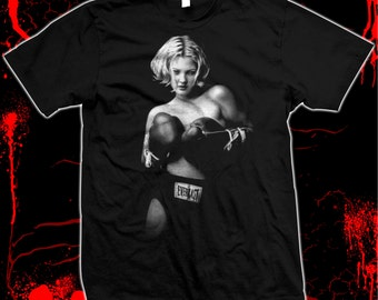 Drew Barrymore Boxing - Pre-shrunk, hand screened 100% cotton t-shirt