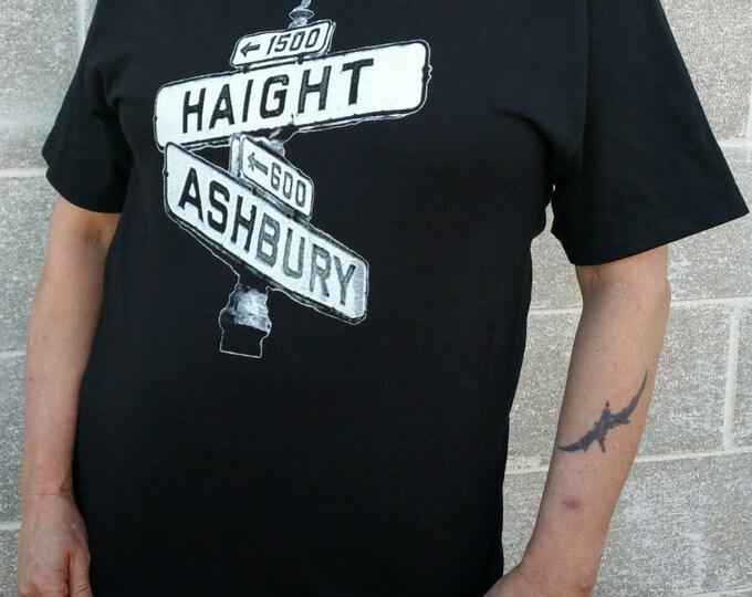 Haight Ashbury Street Sign - San Francisco - Pre-shrunk, 100% Cotton Hand-Screened T-Shirt