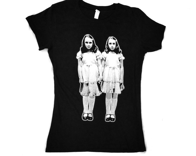 The Shining, Grady Twins, Kubrick - Women's hand screened, Pre-shrunk 100% cotton t-shirt
