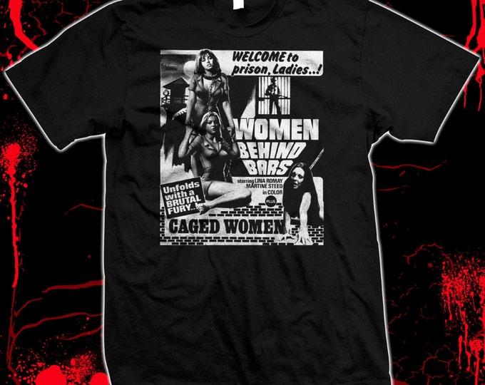 Women Behind Bars - Lina Romay - Jess Franco - Hand screened, Pre-shrunk 100% cotton t-shirt