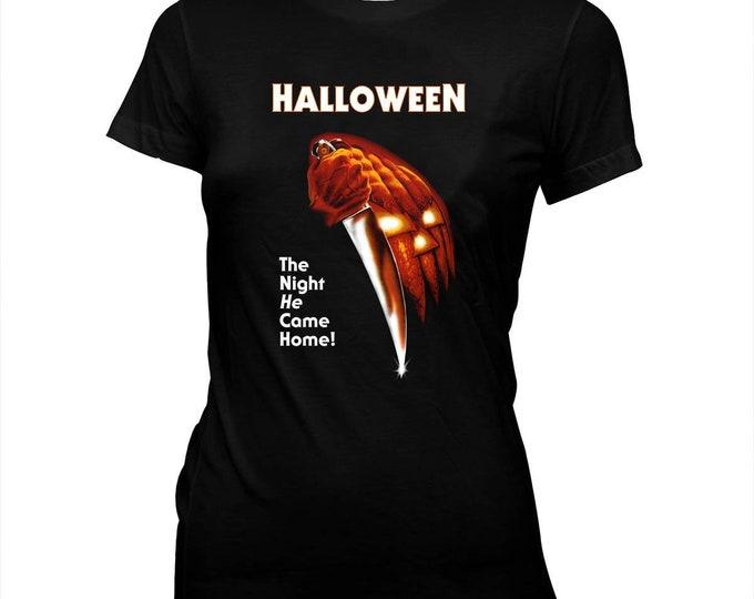 Halloween - Jamie Lee Curtis - Hand screened, Pre-shrunk, Women's 100% Cotton T-Shirt