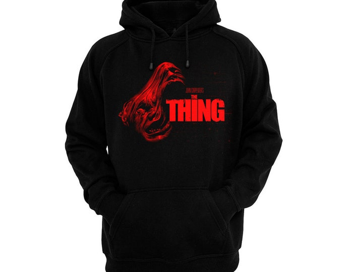 John Carpenter's The Thing - Hand silk-screened, pre-shrunk cotton blend pullover hoodie