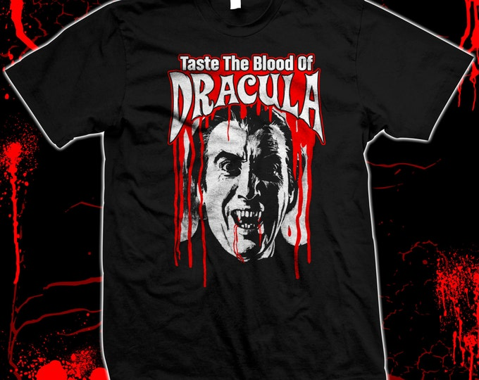 Taste The Blood Of Dracula - Christopher Lee - Pre-shrunk, hand screned 100% cotton t-shirt