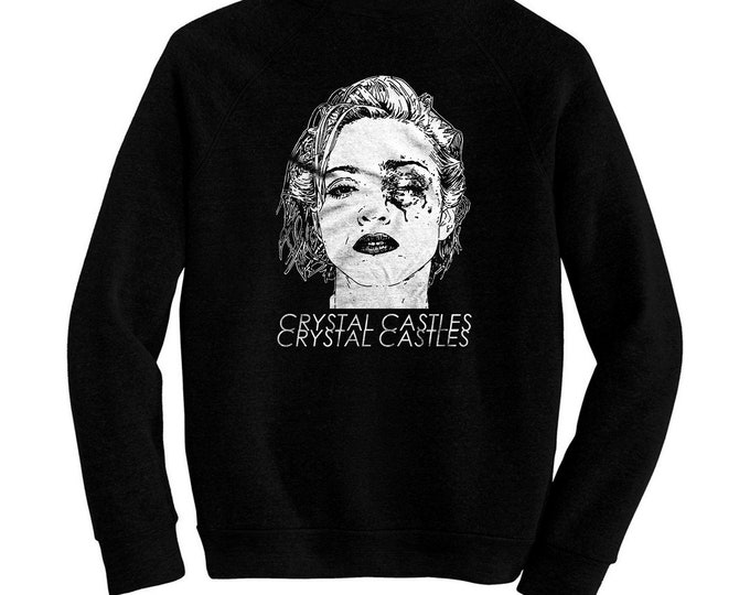 Crystal Castles - Madonna Bruised - Pre-shrunk, hand screened ultra soft 80/20 cotton/poly sweatshirt