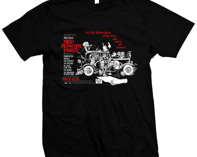 Mad Monster Party - Hand screened, Pre-shrunk 100% cotton t-shirt