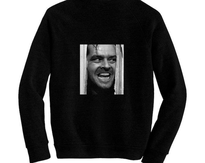 The Shining - Stanley Kubrick - Pre-shrunk, hand screened ultra soft 80/20 cotton/poly sweatshirt - Jack Nicholson