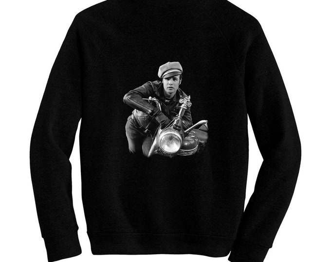 The Wild One - Pre-shrunk, hand screened ultra soft 80/20 cotton/poly sweatshirt - Marlon Brando