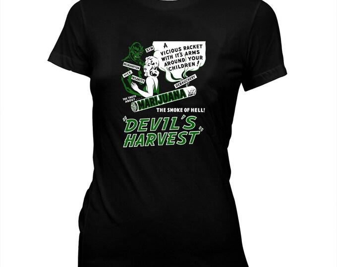 Devil's Harvest - Women's Hand silk screened, pre-shrunk 100% cotton t-shirt