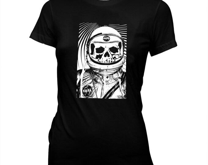 NASA Astronaut Skeleton - Women's 100% cotton Pre-shrunk, hand screened T-Shirt