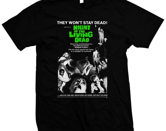 Night of the Living Dead Movie Poster - Pre-shrunk, hand screened 100% cotton t-shirt