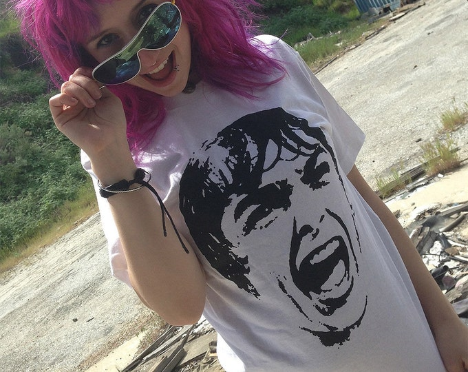 Screaming Janet Leigh - Psycho - Alfred Hitchcock - Hand Screened, Pre-shrunk 100% cotton t-shirt