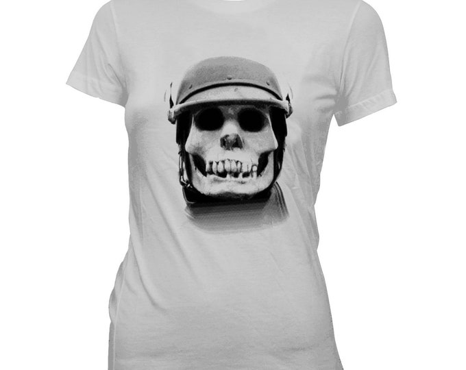Tales From The Crypt - Skeleton Biker - Women's 100% cotton Pre-shrunk, hand screened T-Shirt