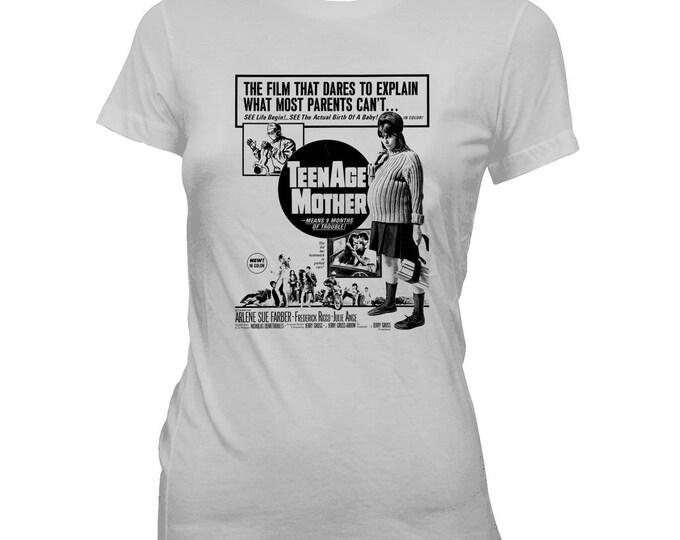 TeenAge Mother - White Trash - Women's Pre-shrunk, Hand Silk-screened 100% cotton T-shirt