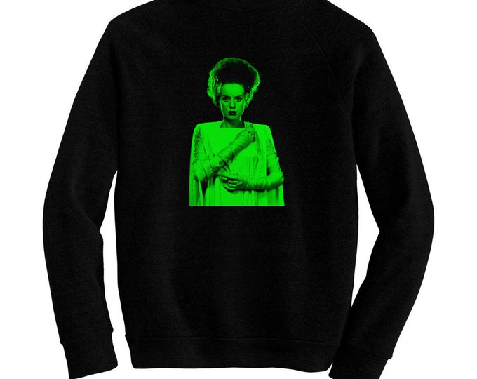 Bride of Frankenstein, The - Pre-shrunk, hand screened ultra soft 80/20 cotton/poly sweatshirt - Elsa Lanchester