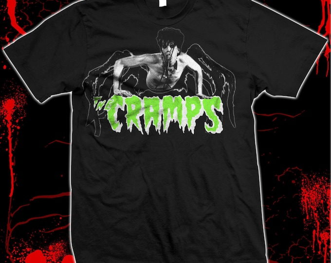 Cramps, The - Lux Interior - Psychobilly - Hand silk screened, Pre-shrunk 100% cotton t-shirt