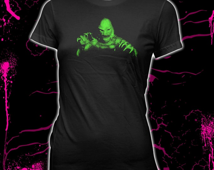 Creature From the Black Lagoon - Women's Hand Screened, Pre-shrunk, 100% Cotton T-Shirt