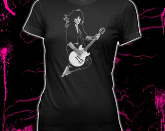 Joan Jett - The Runaways - Blackhearts - Women's Pre-Shrunk 100% Cotton T-Shirt