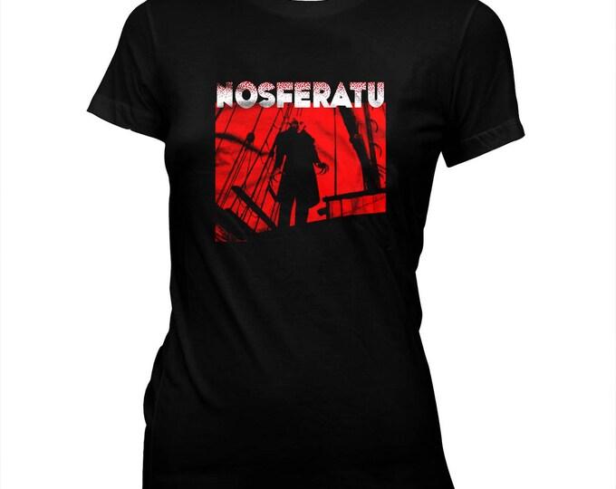 NOSFERATU - '20s silent horror - F. W. Murnau - Women's hand made 100% cotton silk screened t-shirt