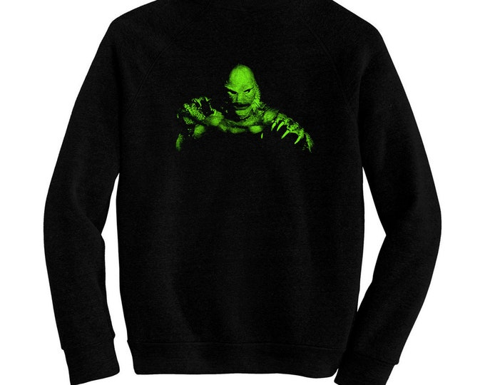 Creature From The Black Lagoon - Pre-shrunk, hand screened ultra soft 80/20 cotton/poly sweatshirt - Jack Arnold