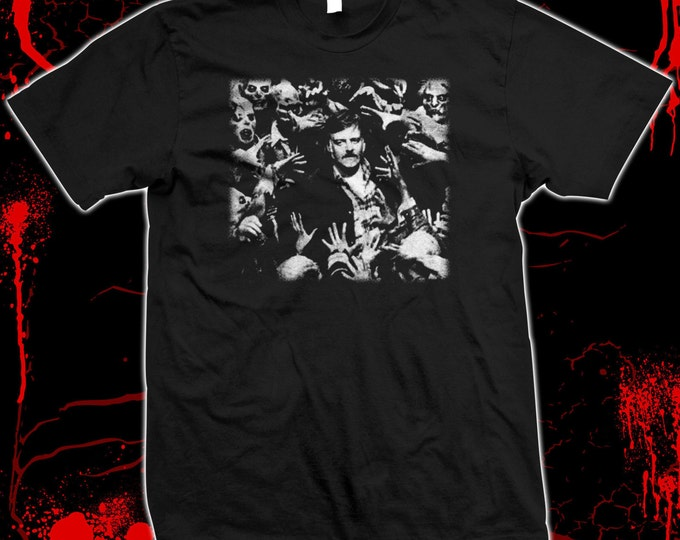 George Romero - Night of the Living Dead - Hand-screened, Pre-shrunk 100% cotton t-shirt