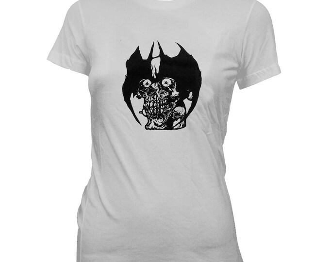 Pushead - Devilman - Women's Hand screened, pre-shrunk 100% cotton t-shirt