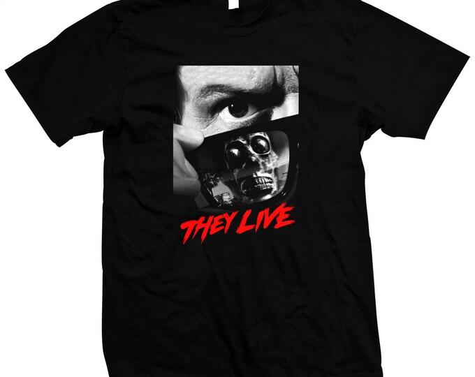 They Live - John Carpenter - Rowdy Roddy Piper - Hand made 100% cotton silk screened t-shirt