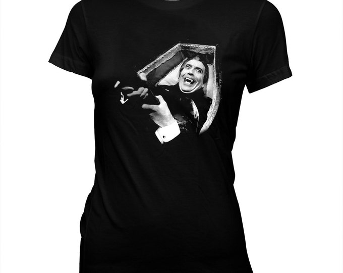 Dracula Has Risen From The Grave - Christopher Lee - Women's Pre-shrunk, hand screened 100% cotton t-shirt