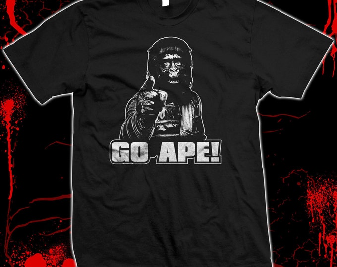 Planet of the Apes - Go Ape - Pre-shrunk, hand screened 100% cotton t-shirt