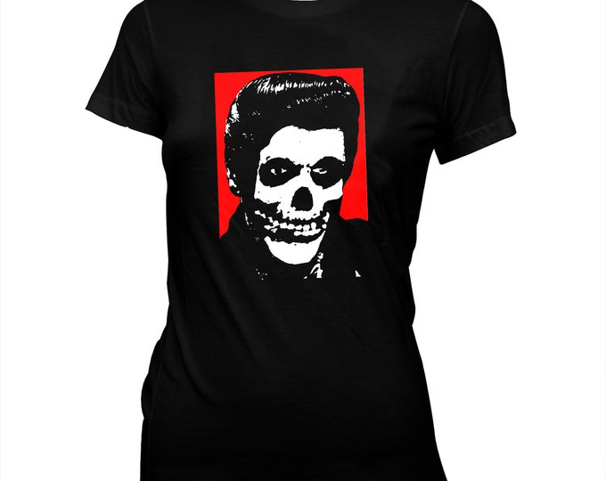 Misfits Crimson Elvis - Pre-shrunk, hand screened, women's 100% cotton tee-shirt