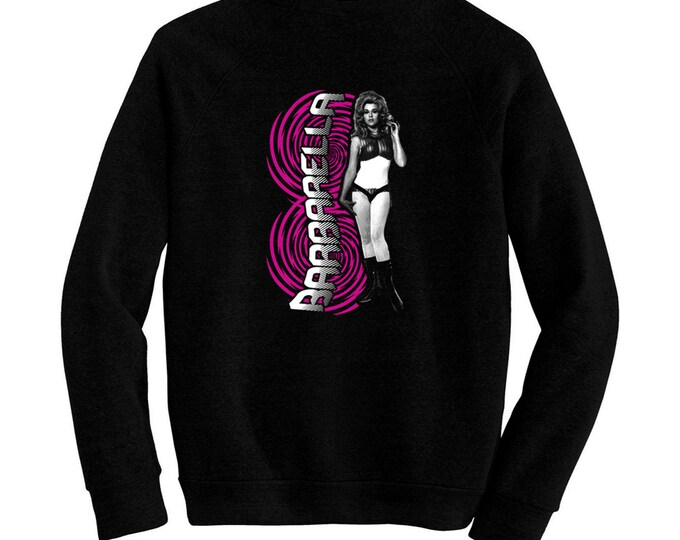 Barbarella - Pre-shrunk, hand screened ultra soft 80/20 cotton/poly sweatshirt - Jane Fonda