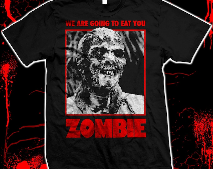 Zombie movie poster - Pre-shrunk, hand screened 100% cotton t-shirt