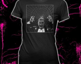 61df71192 Dracula - Spider Web - Bela Lugosi - Women's Hand Screened, Pre-shrunk,  100% Cotton t-Shirt