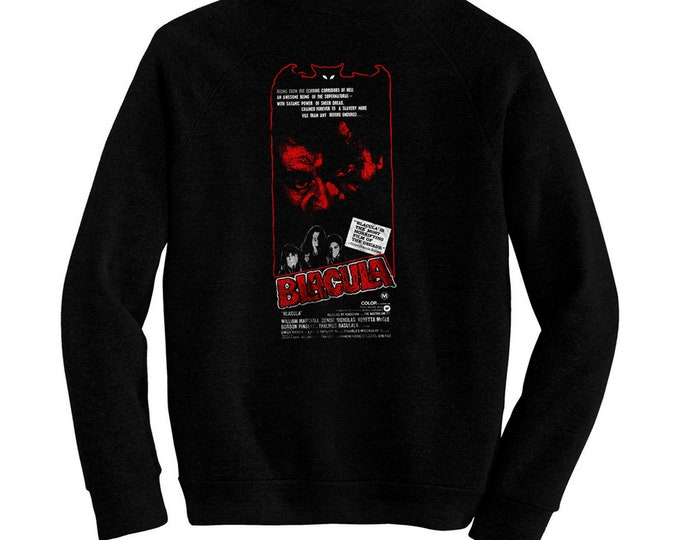 Blacula - Pre-shrunk, hand screened ultra soft 80/20 cotton/poly sweatshirt - William Marshall